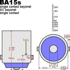 BA15s Enkele pin