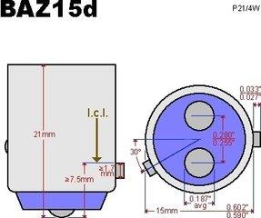 BAZ15d  Dubbele pin