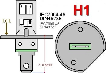 H1- led lampen