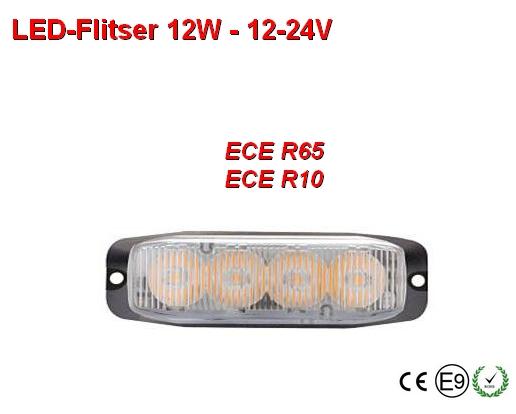 12-24v Led flitser 12W Wit R65-ECE R10