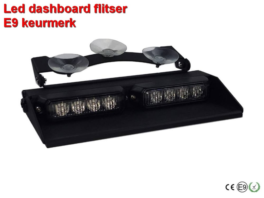 12-24v Led Dashboard flitser 24W Oranje  E9- keurmerk