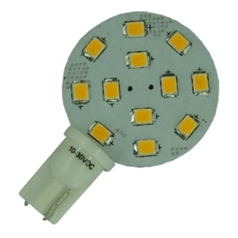 T10 led lamp  met 12-2835smd  Cool-Wit Sidevieuw