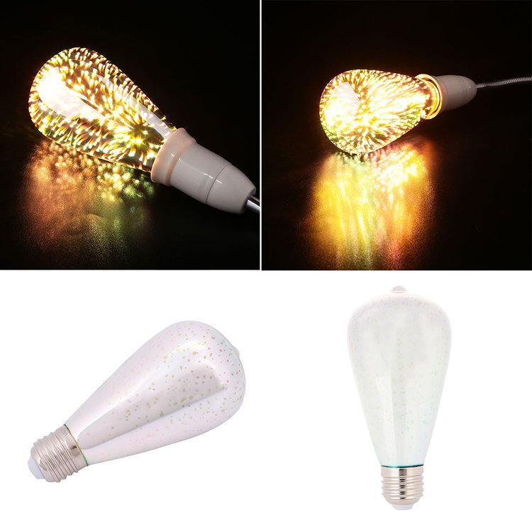 E27 -ST64 3D-Ledlamp 3w warmwit