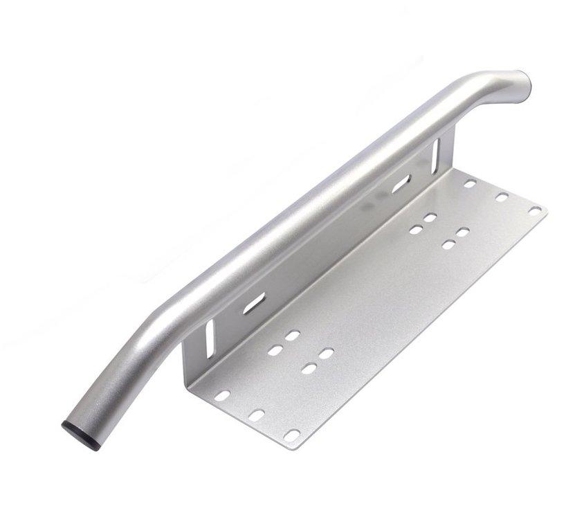 Montagebeugel voor ledlampen / ledbar  kentekenplaat grijs