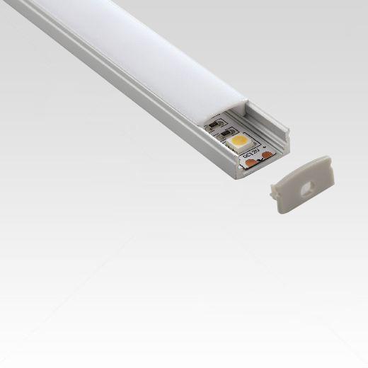 Aluminium stripprofiel 12mm opbouw 1meter