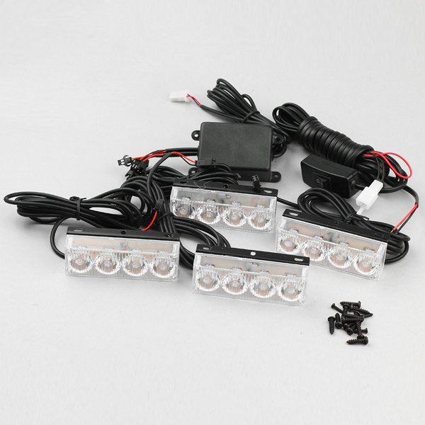 Flits set 4x4 powerled Rood12Vdc