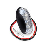 Led sidemarker contourverlichting 4led 12/24V Rood helder glas_
