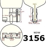 2x 3156-W120 CREE - Canbus 12/24V_