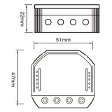 WIFI Led-dimmer inbouw 150watt_