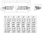 Extreme 6 inch  ledbar 30w - Ar Optics - 2.900 lumen_