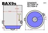 2x -bax9s-6-5630 SMD wit 320lumen_