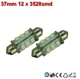 Led-buislampen 37mm 12x 3528smd Warm-wit 10-30v_