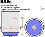 2x  ba9s -20-3014 SMD Canbus 380lumen_12