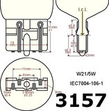 3157-CK-wire-5630SMD Oranje-wit met lens_