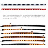 Tailgate Ledstrip 2 delig met oranje looping knipperlicht_