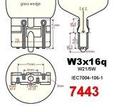 7443- ledlamp dubbele functie met 2835SMD - 950lumen_