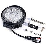 LED werklamp rond 27watt Lens: 60gr 2200lumen_