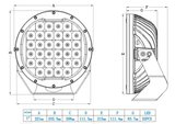 Extreme Led verstraler 160w Combi AR Optics - 14.450 lumen_