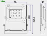 30w dimbare bouwlamp HO serie 3.900 lumen warm-wit_