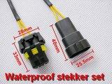 Set spatwaterproof stekker verbinding 2 draads_