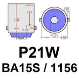 2x BA15s led lamp met 8smd- Warm-Wit 10-36v_