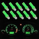 10 x T5-286  1 led dashboard-lampjes groen_
