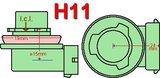 H11/H9/H8- set mistlampen CREE - 1300lumen_