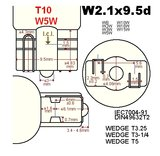 2x T10-5SMD rood_