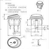 Inbouw schakelaar 12/24 volt IP65_