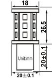 2x BA15s 18x2835smd Rood 10-36v_