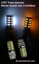 2 x 3157 60 SMD Dual color