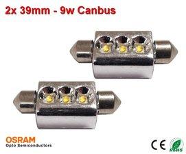 2x 12v Canbus led 39mm 3 x osram - 160 lumen