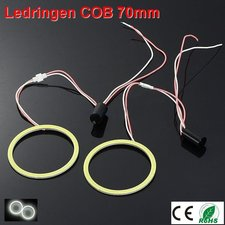 2 Ledringen COB 70mm Cool-wit