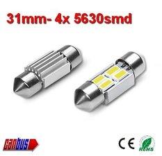2x 12v Canbus 31mm 4 x 5630smd- 125 lumen