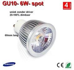 GU10 dimbare ledspot 6w Warm-wit - AC-led