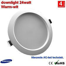 downlight 24w Warm-wit - AC-led Dimbaar