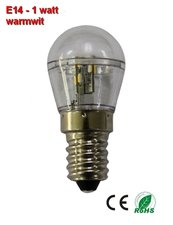 E14 Mini LED lamp 1w Warmwit