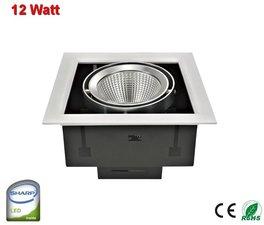 Inbouw Led-spot verstelbaar Sharp-12w Cool-wit  1210 lumen