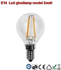 E14 LED bollamp Gloeispiraal design 2w Warmwit