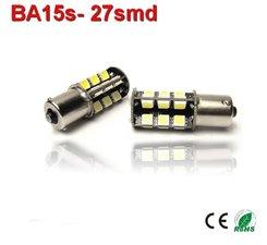 2x 12v BA15S-27 SMD+ Wit