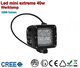 Extreme Led Werklamp 40w Ar Optics - 3.200 lumen