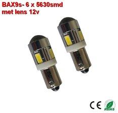 2x -bax9s-6-5630 SMD wit 320lumen