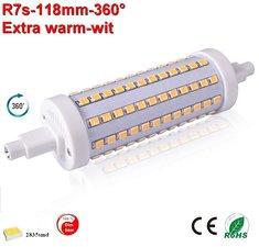 R7s LED lamp -118mm-10w-360gr -dimbaar Extra Warmwit