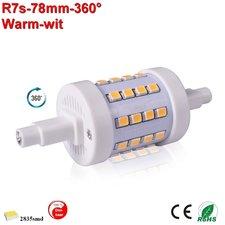 R7s LED lamp -78mm-5w-360gr dimbaar Warmwit