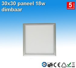 LED paneel 30x30 Cool-wit 18w Dimbaar