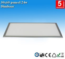 LED paneel 30x60 Warm-wit 24w Dimbaar