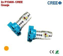 2x PY24W-CREE-Oranje