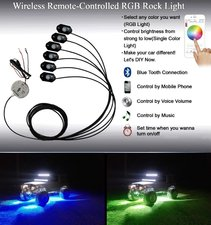 Extreme RGB Rocklight Showled lampen Bluetooth smartphone control