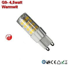 G9 AC Led 4,5W Dimbaar Warmwit
