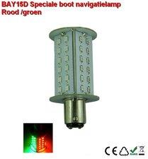 BAY15D- 48smd- rood/groen 10-30v Navigatielamp